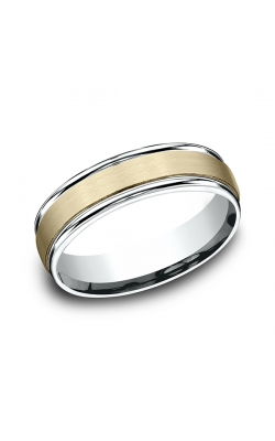 Benchmark Designs Two Tone Comfort-Fit Design Wedding Ring CF17603114KWY08.5 product image