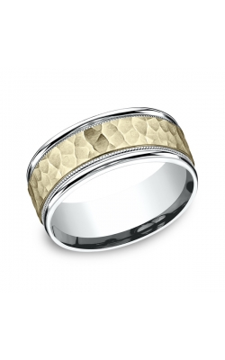 Benchmark Two Tone Comfort-Fit Design Wedding Ring CF17830814KWY08.5 product image