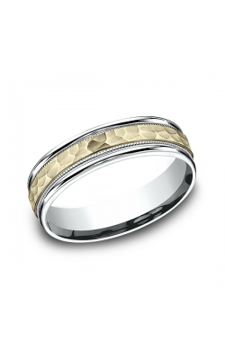 Benchmark Two Tone Comfort-Fit Design Wedding Band CF17630814KWY10 product image