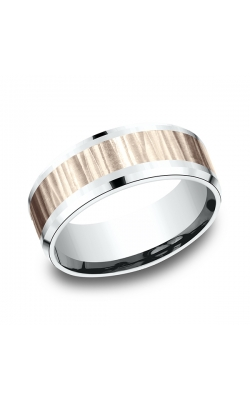 Benchmark Two Tone Comfort-Fit Design Wedding Ring CF22861414KRW08 product image