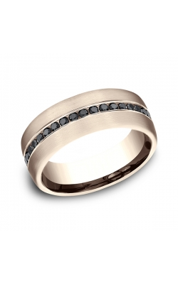 Benchmark Comfort-Fit Black Diamond Wedding Ring CF71755114KR08 product image