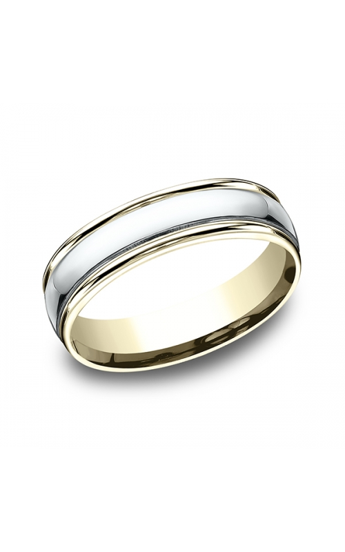 Benchmark Two Tone Comfort-Fit Design Wedding Band CF1560814KWY06 product image