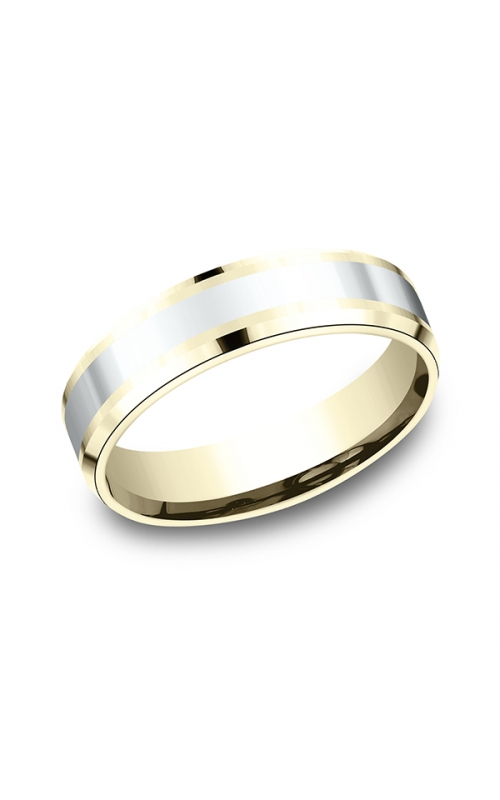 Benchmark Designs Two-Tone Comfort-Fit Design Wedding Band CF18601114KWY06 product image