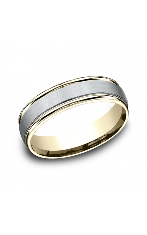 Benchmark Two Tone Comfort-Fit Design Wedding Ring CF15603114KWY06 product image
