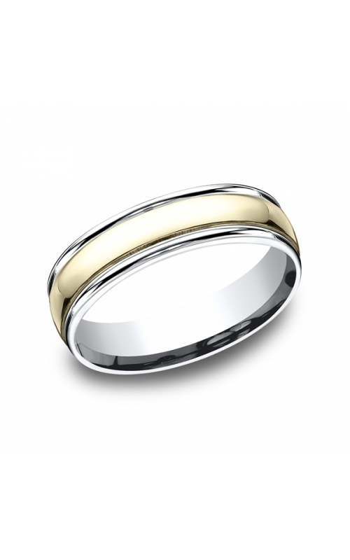 Benchmark Two Tone Comfort-Fit Design Wedding Ring CF1760814KWY06 product image