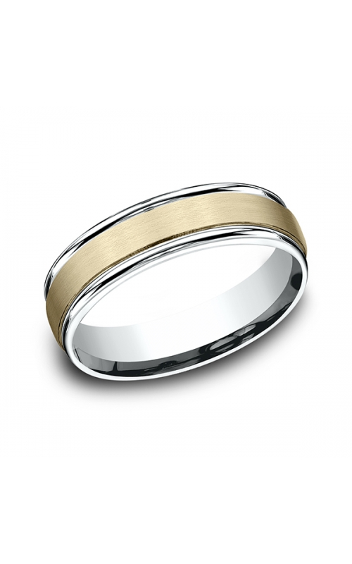 Benchmark Two Tone Comfort-Fit Design Wedding Ring CF17603114KWY06 product image