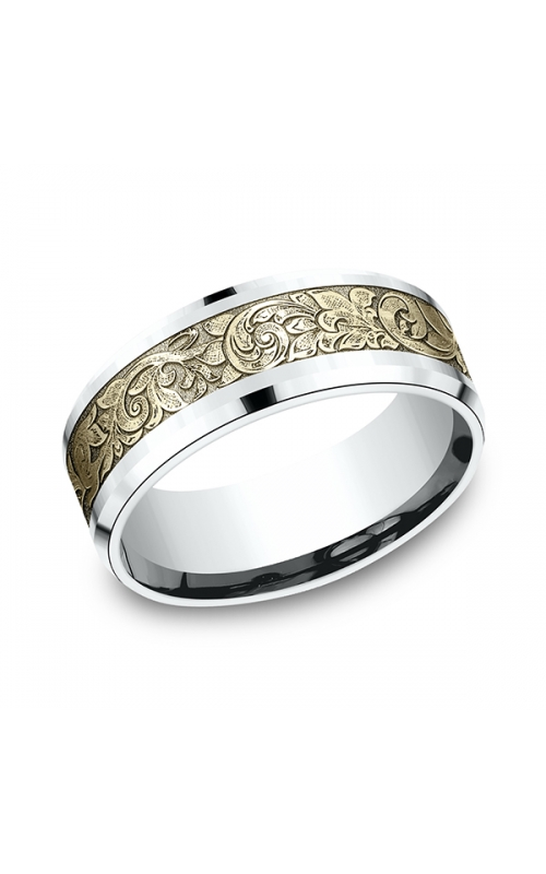 Benchmark Two Tone Comfort-Fit Design Wedding Ring CF81864814KWY06 product image