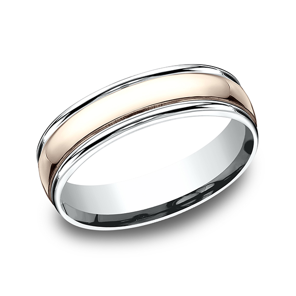 Benchmark Designs Two Tone Comfort-Fit Design Wedding Band CF2160814KRW06 product image