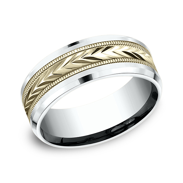 Benchmark Two-Tone Comfort-Fit Design Wedding Band CF20800314KWY06 product image