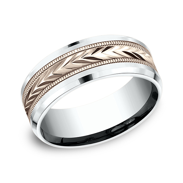Benchmark Designs Two-Tone Comfort-Fit Design Wedding Band CF22800314KRW06 product image