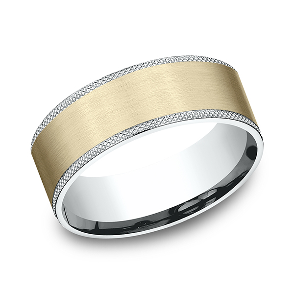 Benchmark Designs Two-Tone Comfort-Fit Design Wedding Band CF20874914KWY06 product image