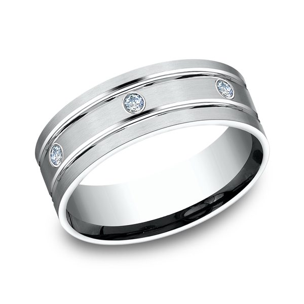 Benchmark Comfort-Fit Diamond Wedding Band CF52813814KW04 product image