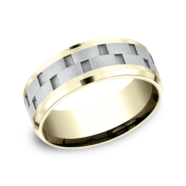 Benchmark Two-Tone Comfort-Fit Design Wedding Ring CF18849314KWY06 product image