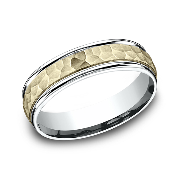 Benchmark Two Tone Comfort-Fit Design Wedding Band CF17630314KWY06 product image