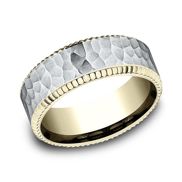 Benchmark Two Tone Comfort-Fit Design Wedding Ring CF18837614KWY06 product image