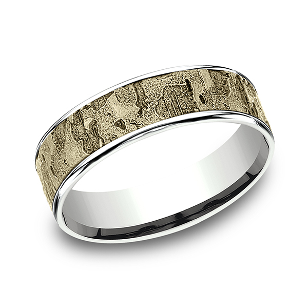 Benchmark Two Tone Comfort-Fit Design Wedding Ring CFT816563314KWY06 product image