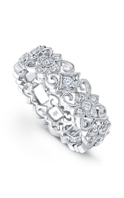Beverley K Floral Wedding Band R128-DD product image