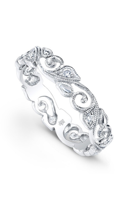 Beverley K Floral Wedding Band R142-DD product image