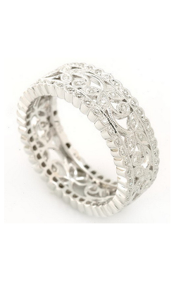 Beverley K Floral Wedding Band R316-DD product image