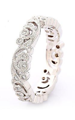 Beverley K Floral Wedding Band R329-DD product image