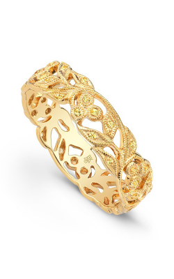 Beverley K Floral Wedding band R6813-YS product image
