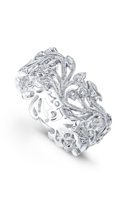 Beverley K Floral Wedding Band R720-DD product image