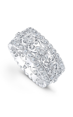 Beverley K Floral Wedding Band R723-DD product image