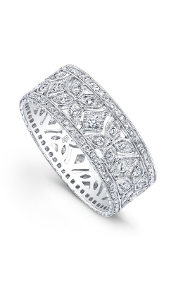 Beverley K Floral Wedding Band R732-DD product image