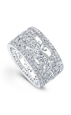 Beverley K Floral Wedding Band R9033-DD product image