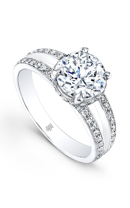 Beverley K Split Shank Engagement ring R1069A-DDCZ product image