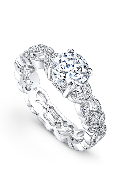 Beverley K Floral Engagement ring R769A-DDCZ product image