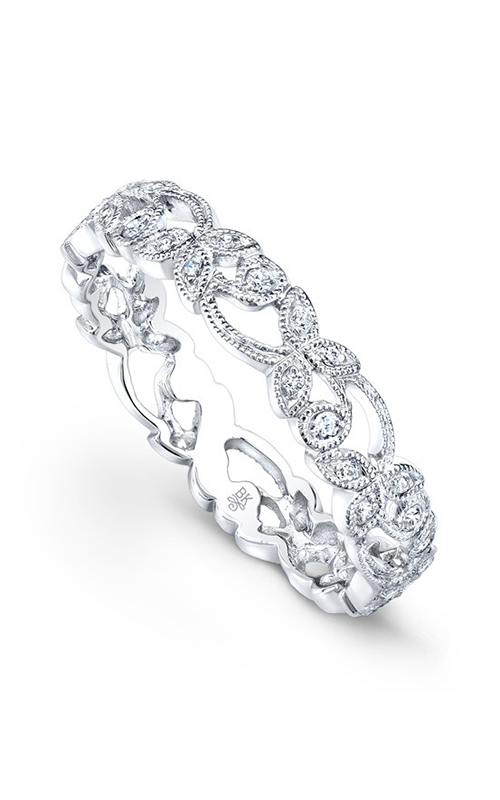 Beverley K Floral Wedding band R161-DD product image