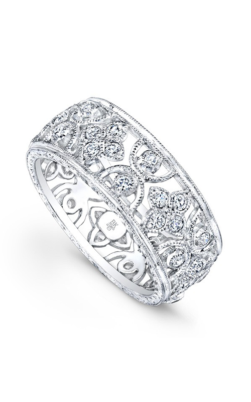 Beverley K Floral Wedding band R210-DD product image