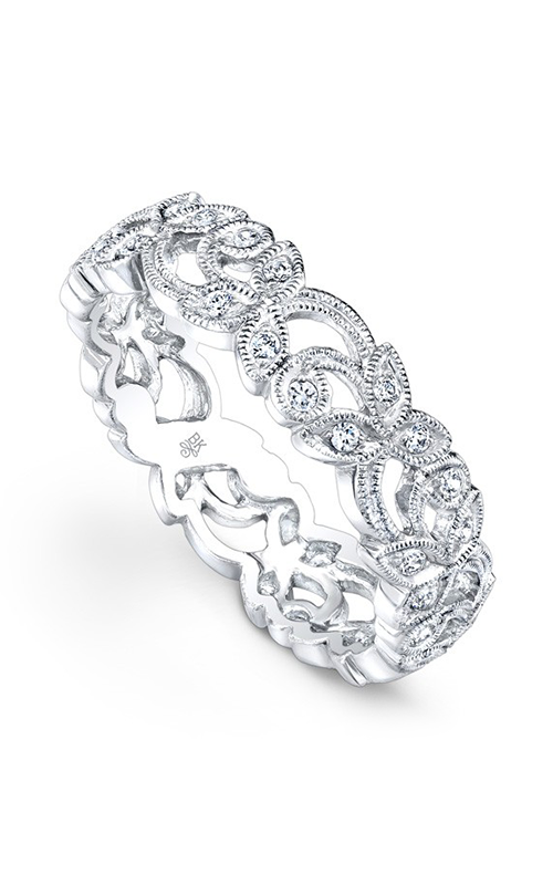 Beverley K Floral Wedding band R274-DD product image
