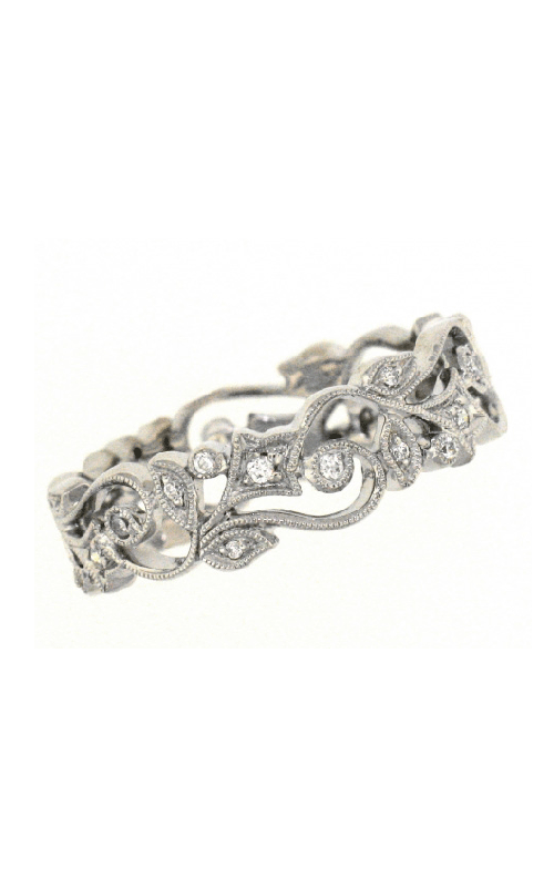 Beverley K Floral Wedding band R325-DD product image