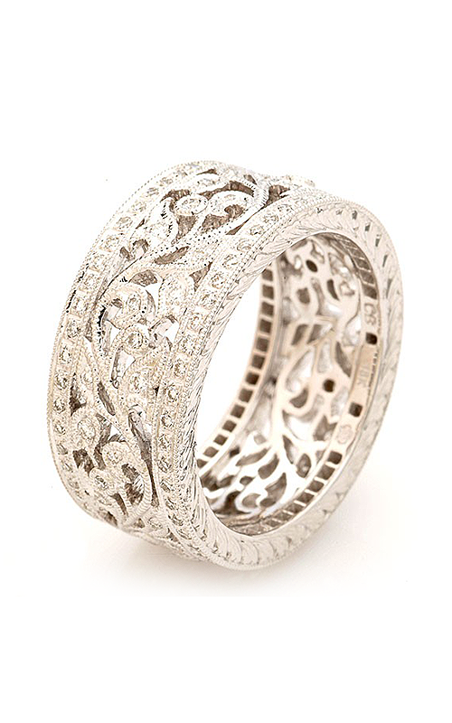 Beverley K Floral Wedding band R602-DD product image