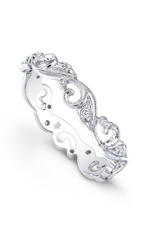 Beverley K Floral wedding band R6142-DD product image
