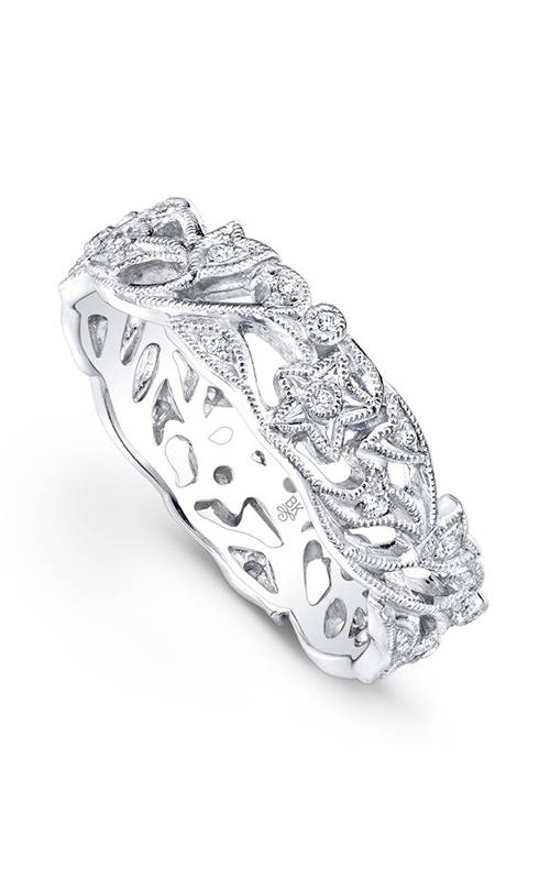 Beverley K Floral Wedding band R6743-DD product image