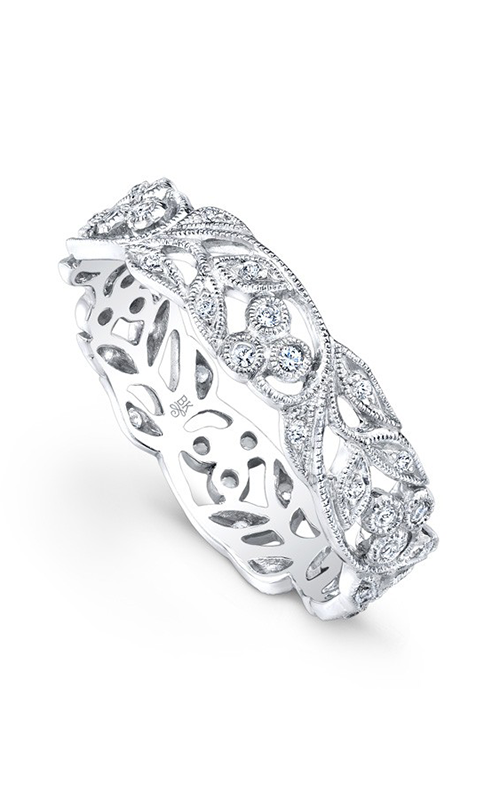 Beverley K Floral Wedding band R6813-DD product image