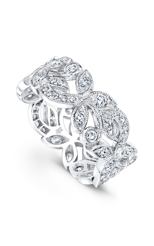 Beverley K Floral wedding band R733-DD product image