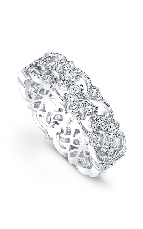 Beverley K Floral wedding band R807-DD product image