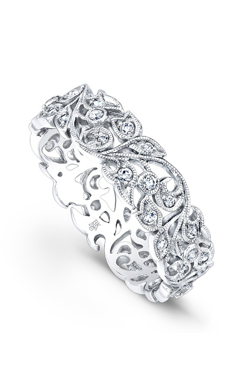 Beverley K Floral Wedding band R811-DD product image