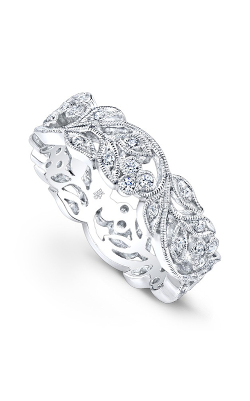 Beverley K Floral wedding band R813-DD product image