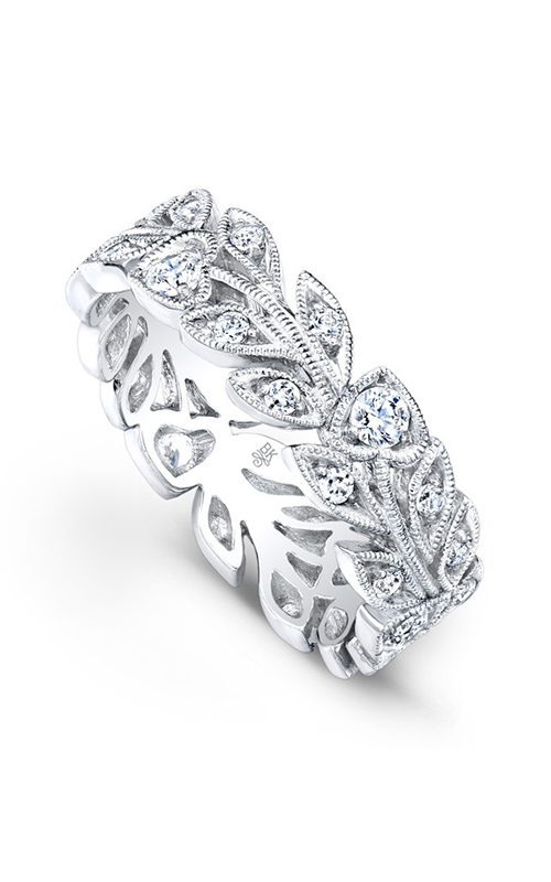 Beverley K Floral Wedding band R814-DD product image