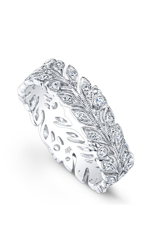 Beverley K Floral Wedding band R816-DD product image