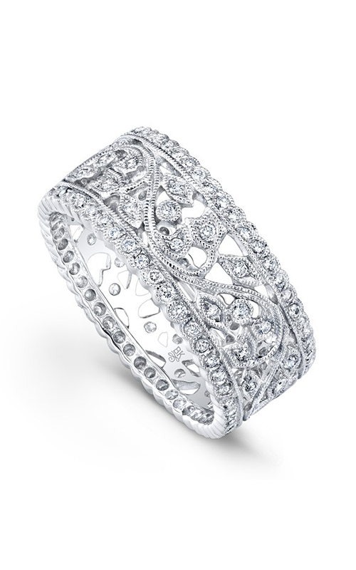 Beverley K Floral Wedding band R9096-DD product image