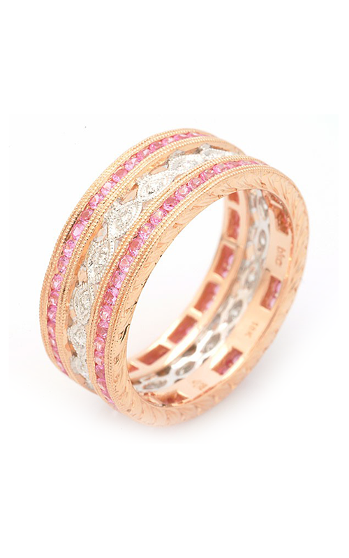 Beverley K Two-Tone wedding band R240-PSD product image