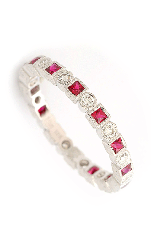 Beverley K Stackable Wedding band R140-DR product image