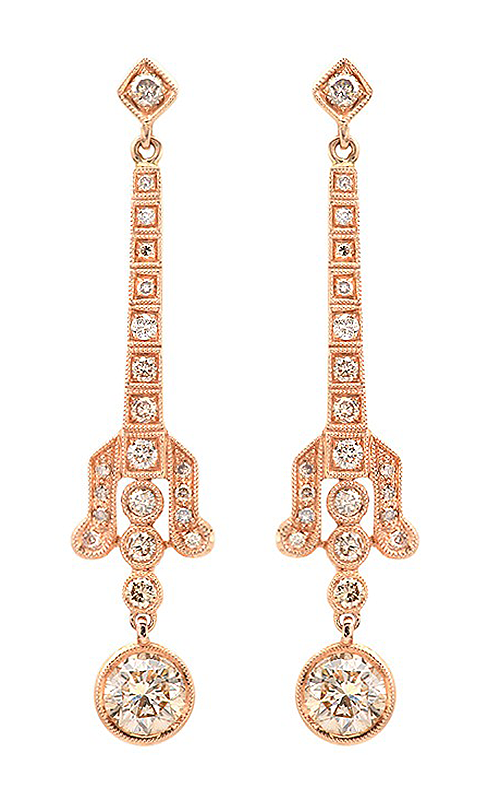 Beverley K Earring E9342A-COGNAC product image
