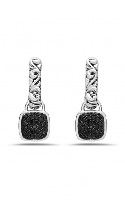 Charles Krypell Black Sapphire Pave Earrings 1-6948-SBS product image